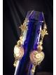 Victorian frosted lace Czech glass heart earrings