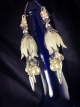 Distressed White tulip Swarovski crystal and  pearl earrings