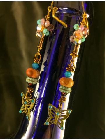Morphed Monarch Butterfly Earrings