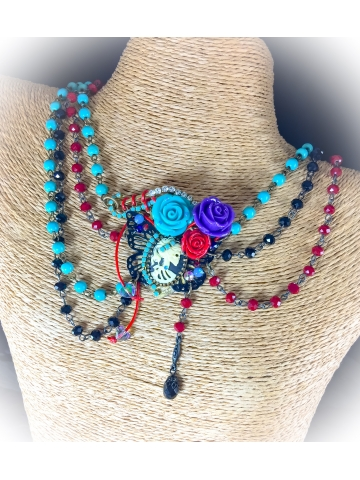 Corpse Bride Day of the Dead Necklace